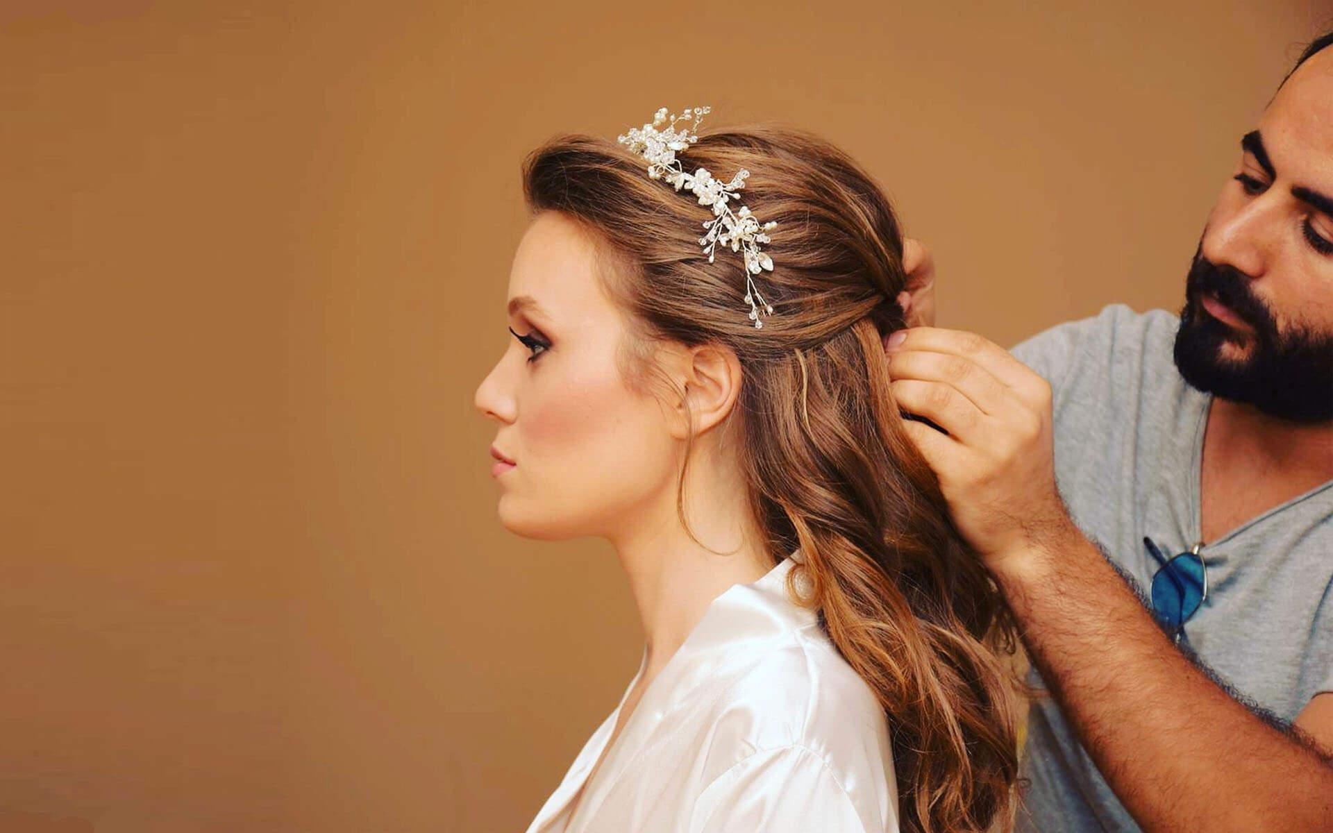 تسريحات الشعر والمكياج للعروس